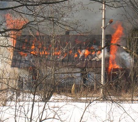 Сгорает дом